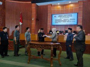 DPRD Kota Depok Sahkan Tiga Raperda Jadi Perda
