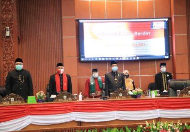 Rapat Paripurna Pandangan Umum Fraksi DPRD Terhadap 4 Raperda dan HUT DPRD Kota Depok